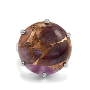 Copper Mojave Amethyst Ring in Sterling Silver 18cts