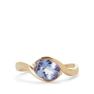 Lavender Tanzanite Ring in 9K Gold 1.28cts