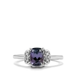 Bi Colour Tanzanite Ring with White Topaz in Sterling Silver 1.22cts