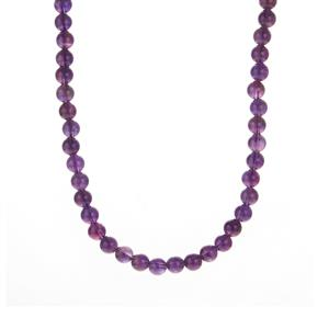 Zambian Amethyst Slider Necklace in Sterling Silver 119.50cts