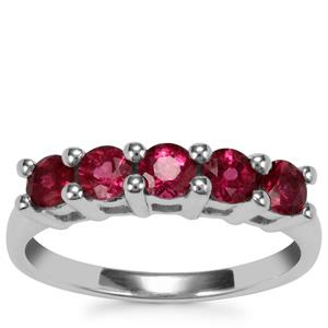Cruzeiro Rubellite Ring in Sterling Silver 0.85ct