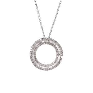 1ct Diamond Sterling Silver Necklace