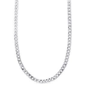 "24"" Sterling Silver Sliding Curb Necklace 16.92g"