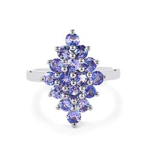2ct Tanzanite Sterling Silver Ring