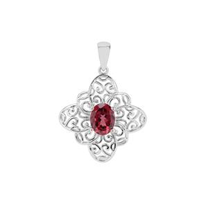 Mahenge Garnet Nora Saul Pendant in Sterling Silver 2.36cts