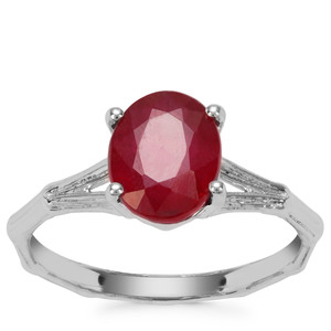 Malagasy Ruby Ring in Sterling Silver 2.81cts (F)