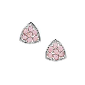 Pink Tourmaline Earrings in Sterling Silver 3cts