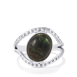 Andamooka Opal Ring in Sterling Silver 3.50cts
