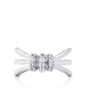 0.23ct White Topaz Sterling Silver Ring