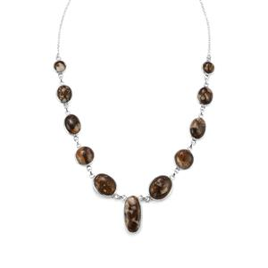 Wild Horse Jasper Necklace in Sterling Silver 67.97cts