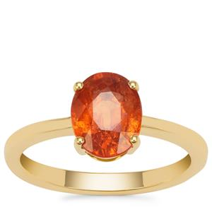 Mandarin Garnet Ring in 18K Gold 2.45cts