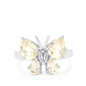 Serenite Ring with White Topaz in Sterling Silver 2.81cts