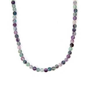 Rainbow Fluorite Slider Necklace in Sterling Silver 153.50cts