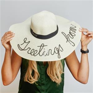 Destello Straw Hat - White