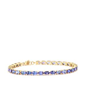 AAA Tanzanite Bracelet in 18K Gold 12.92cts