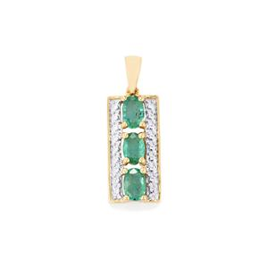 Zambian Emerald Pendant in 10K Gold 1.27cts