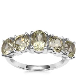 Sillimanite Ring in Sterling Silver 3.97cts