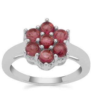 Balas Pink Tourmaline Ring in Sterling Silver 1.41cts