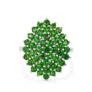 Chrome Diopside Ring in Sterling Silver 3.44cts