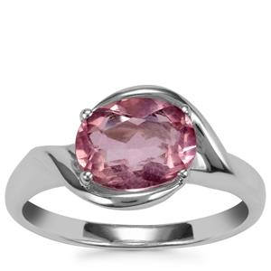 Natural Pink Fluorite Ring in Sterling Silver 2.28cts