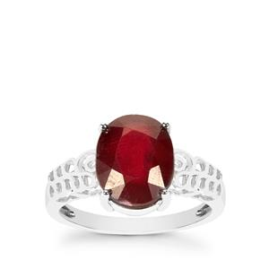 Thai Ruby Ring in Sterling Silver 4.85cts (F)