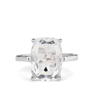 7.98ct White Fluorite Sterling Silver Ring
