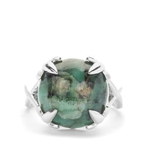Minas Velha Emerald Ring in Sterling Silver 10.13cts