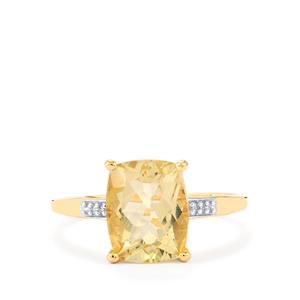 Serenite Ring with Diamond in 9K Gold 2.93cts