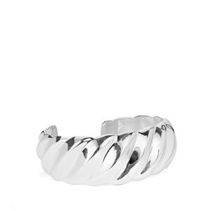 Cuff Bangle in Sterling Silver 28.52g