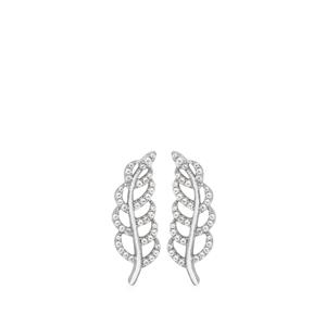 White Topaz Earrings  in Rhodium Flash Sterling Silver 0.67ct