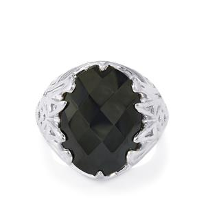 14.79ct Black Spinel Sterling Silver Ring
