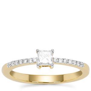 Diamond Ring in 18K Gold 0.36ct