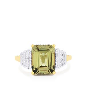 Csarite® Ring with Diamond in 18K Gold 4.10cts