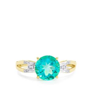 Batalha Topaz Ring with Diamond in 9K Gold 2.37cts