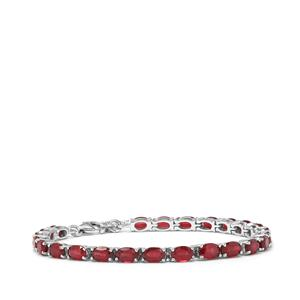 Malagasy Ruby Bracelet in Sterling Silver 16.80cts (F)