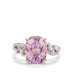 Mawi Kunzite Ring with Diamond in 18K Rose Gold 4.93cts