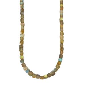 115ct Labradorite Sterling Silver Graduated Bead Necklace
