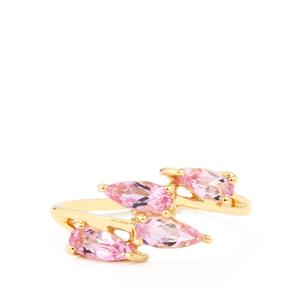 Imperial Pink Topaz Ring in 10k Gold 1.33cts