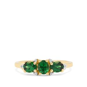 Tsavorite Garnet & Diamond 9K Gold Ring ATGW 1.10cts