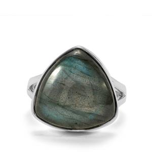 Labradorite Ring in Sterling Silver 15cts