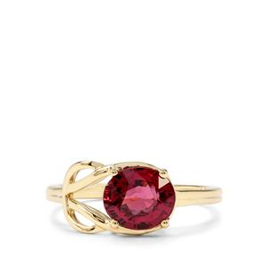 2.07ct Savanna Pink Garnet 9K Gold Ring