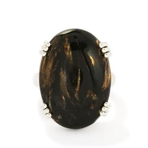 18.50ct Midnight Seraphinite Sterling Silver Aryonna Ring