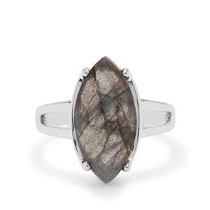 5.85ct Paul Island Labradorite Sterling Silver Ring