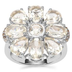 Serenite Ring with Champagne Diamond in Sterling Silver 6.11cts