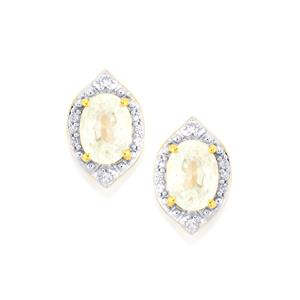 Singida Tanzanian Zircon Earrings in Gold Vermeil 2.86cts