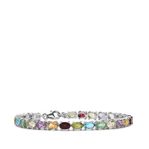 12.47ct Kaleidoscope Gemstones Sterling Silver Bracelet