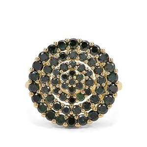1.95ct Green Diamond 9K Gold Ring