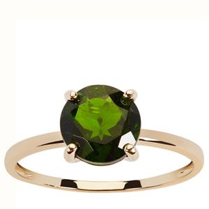 1.97ct Chrome Diopside 9K Gold Ring