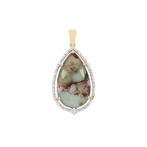 Aquaprase™ Pendant with Diamond in 18K Gold 18.92cts
