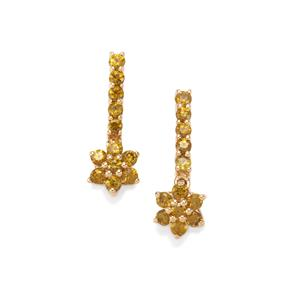 Apache Demantoid Garnet Earrings in 18K Gold 1.08cts
